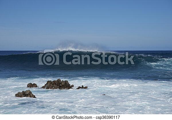 isla, pascua, costa - csp36390117