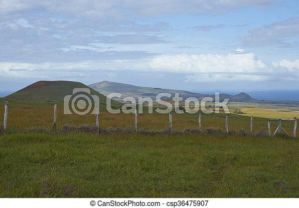 isla, pascua, paisaje - csp36475907