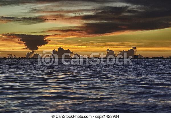 isla, salida del sol, sanibel - csp21423984