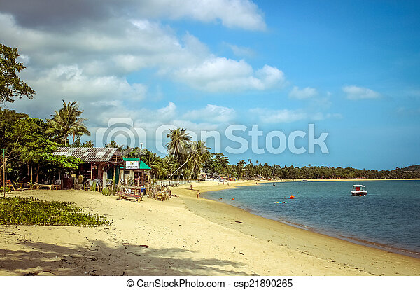Playa en Samui Island - csp21890265