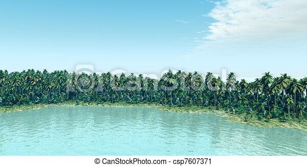 La isla tropical - csp7607371