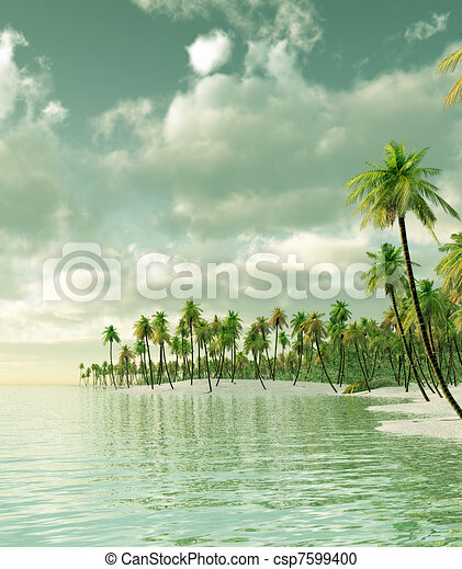 Isla tropical - csp7599400