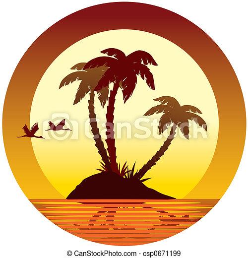 Isla tropical - csp0671199