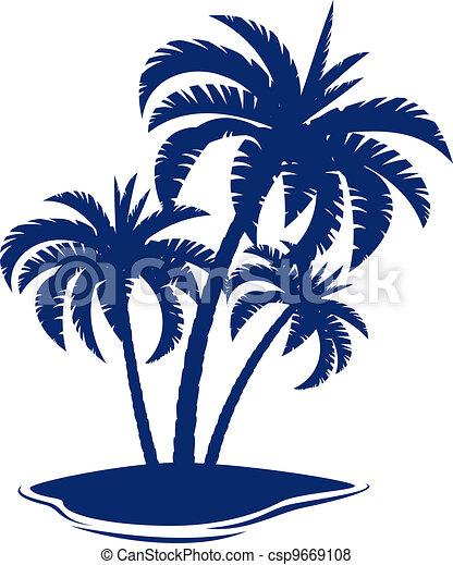 Isla tropical - csp9669108