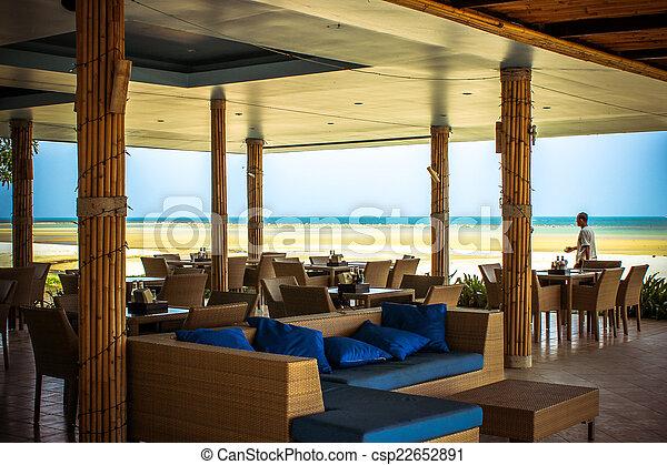 Café en la playa tropical de la isla Samui - csp22652891