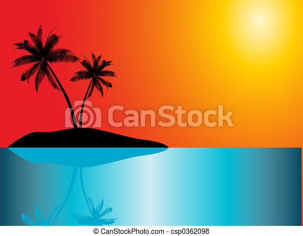 La isla tropical - csp0362098