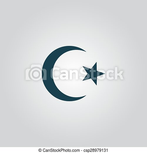 Islam Symbol Islam Symbol Flat Web Icon Or Sign Isolated