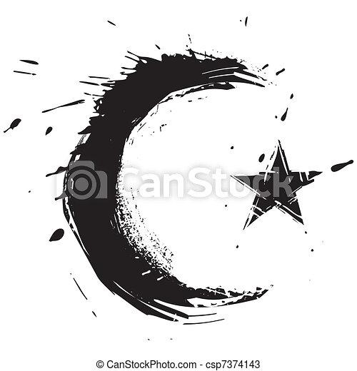 Islam Symbol Islamic Religion Symbol Created In Grunge Style
