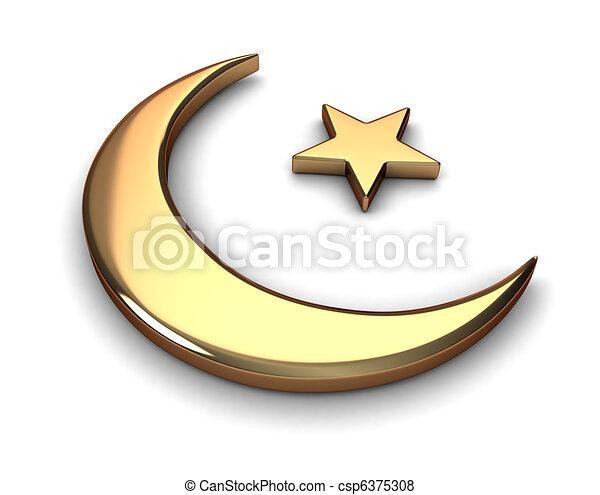 Islam Symbol 3d Illustration Representing Islam