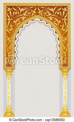 islamic, desenho, arco - csp13586050