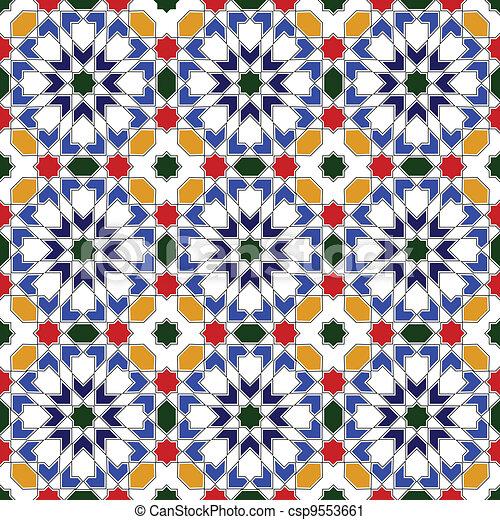 islamic desenho mosaico tradicional islamic vetorial desenho
