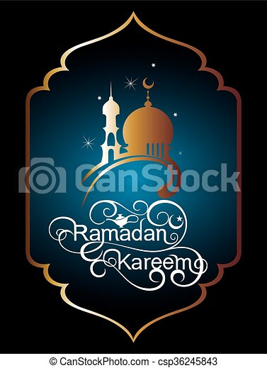 Islamic greeting card background silhouette mosque background with islamic greeting card background csp36245843 m4hsunfo