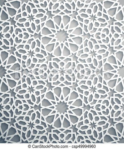islamic ornament vector persian motiff white background light 3d ramadan islamic round pattern elements geometric https www canstockphoto com islamic ornament vector persian motiff 49994960 html