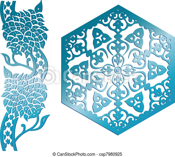 Islamic ornaments - csp7980925