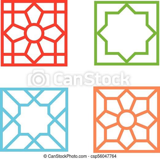 islamic square tile pattern on white vector art design rh canstockphoto com islamic vector motif islamic vector ramadan