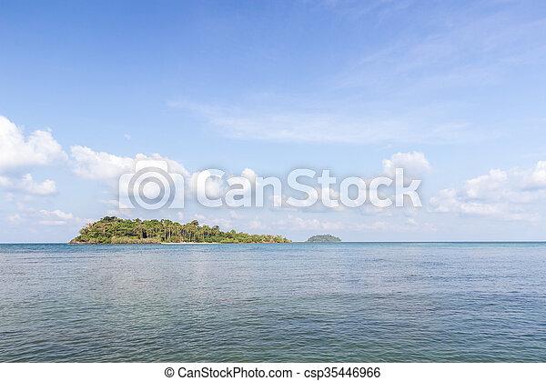 Island and sea. Summer background. Thailand - csp35446966