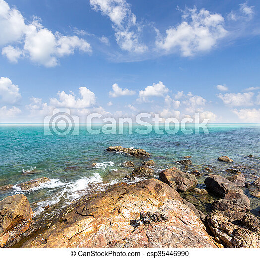 Island and sea. Summer background. Thailand - csp35446990
