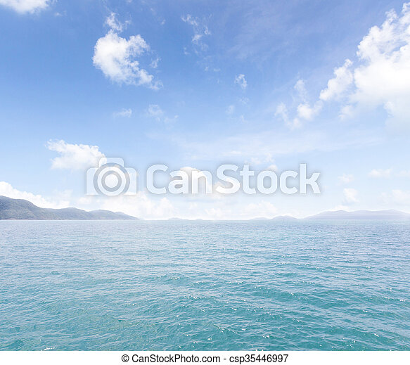 Island and sea. Summer background. Thailand - csp35446997