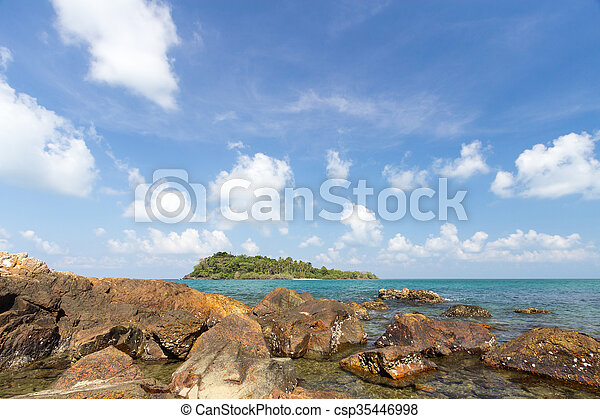 Island and sea. Summer background. Thailand - csp35446998