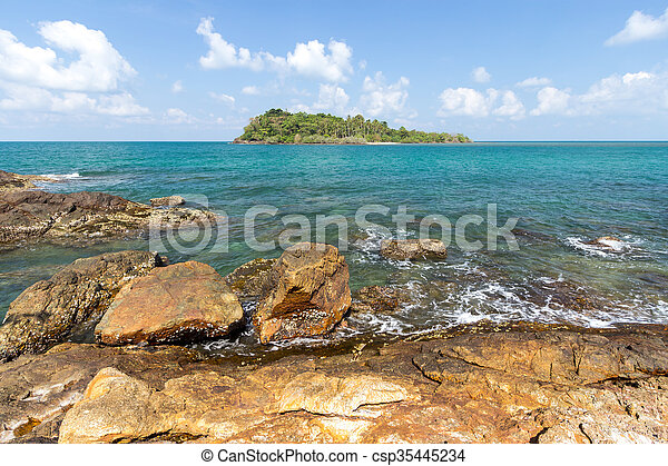 Island and sea. Summer background. Thailand - csp35445234