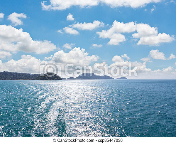 Island and sea. Summer background. Thailand - csp35447038