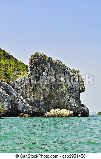 Island and sea Thailand - csp3951458
