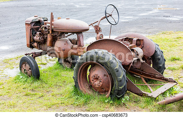 island, gammal, traktor - csp40683673