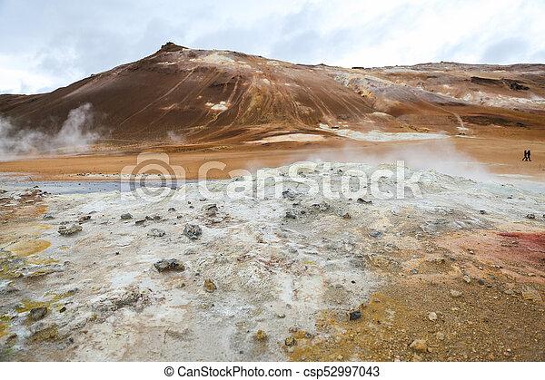 island, geothermisch, namafjall, bereich - csp52997043