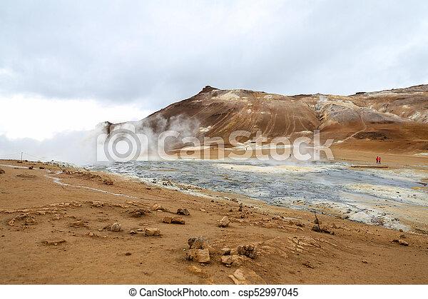 island, geothermisch, namafjall, bereich - csp52997045