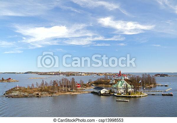 Island in the Baltic sea. - csp13998553