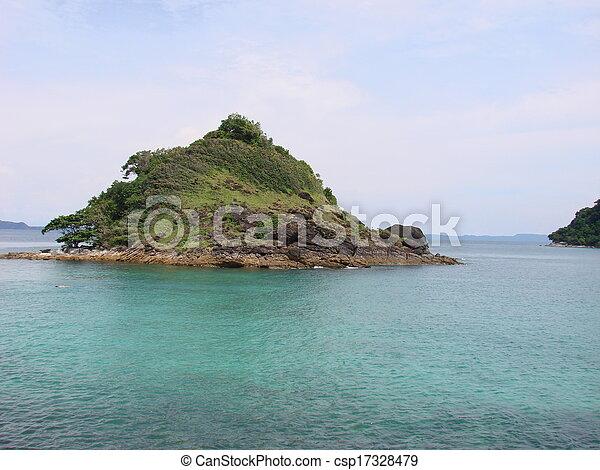island in the sea - csp17328479