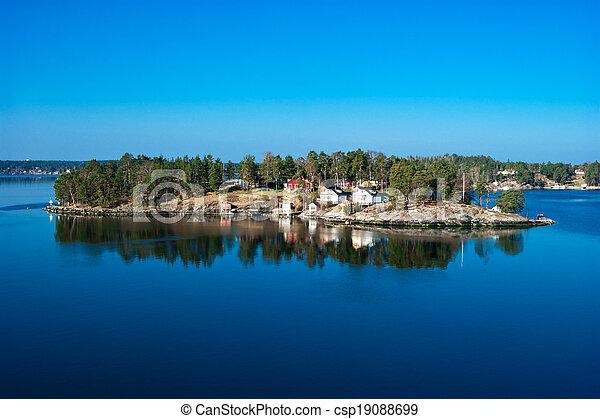 Island in the sea. - csp19088699