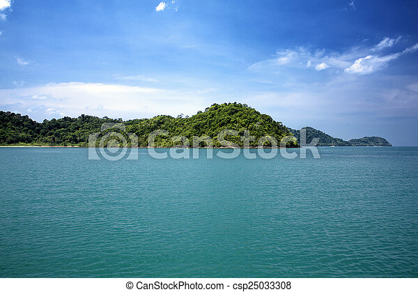 Island in the sea - csp25033308