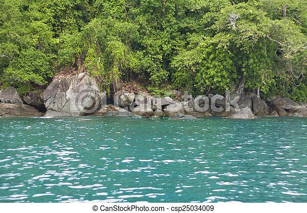 Island in the sea - csp25034009