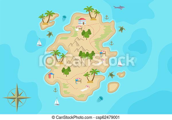 Mapa Isla Del Tesoro.El Mapa De La Isla De La Fantasia Pirata La Isla Del Tesoro