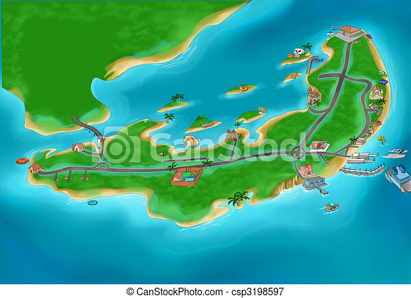 island map csp3198597