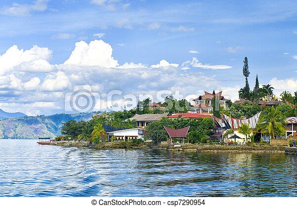 Island Samosir, Lake Toba. Sumatra - csp7290954