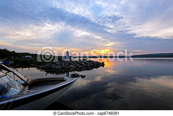 island sunset - csp6746091