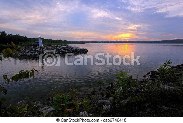 island sunset - csp6746418