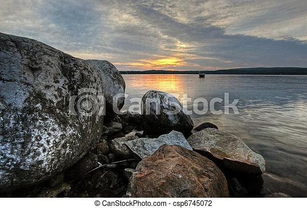 island sunset - csp6745072