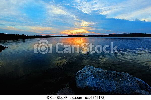 island sunset - csp6746172