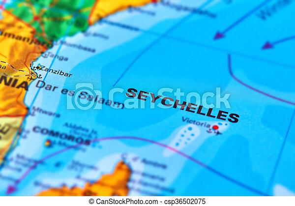 Las Islas Seychelles En El Mapa Islas Seychelles En El Mapa