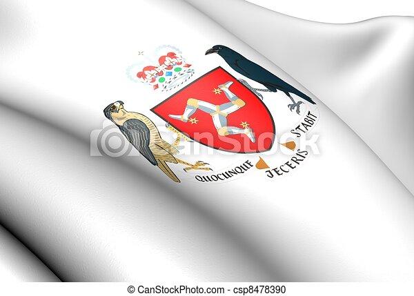 Isle of Man Coat of Arms - csp8478390