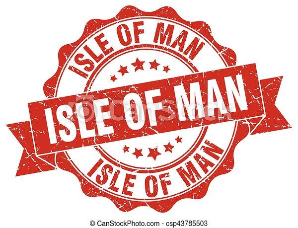 Isle Of Man round ribbon seal - csp43785503
