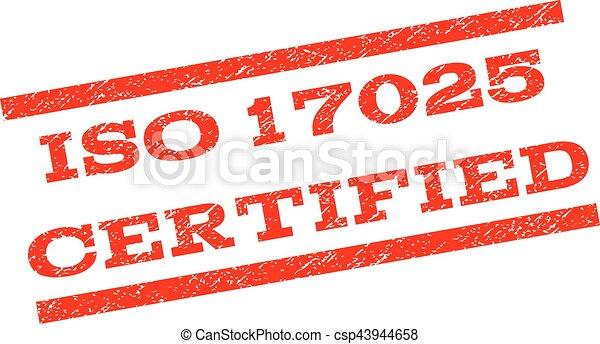 ISO 17025 Certified Watermark Stamp - csp43944658