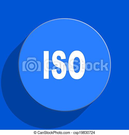 iso blue web flat icon - csp19830724