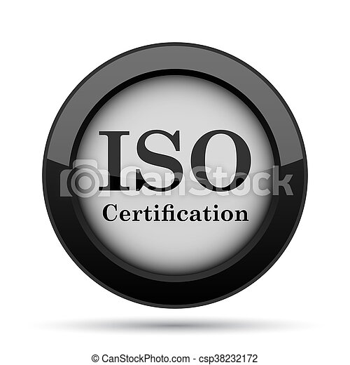 Iso certification icon. internet button on white background. picture ...