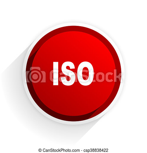 iso flat icon with shadow on white background, red modern design web element - csp38838422
