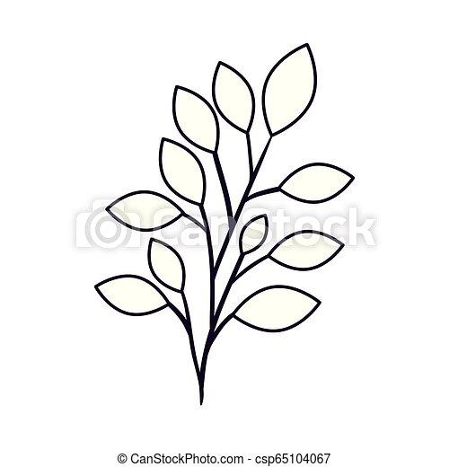 isolé, branche, icône - csp65104067