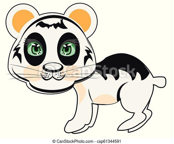 isolé, fond blanc, ours, panda - csp61344591